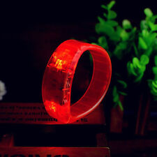 Sound Controlled Voice LED Light Up Bracelet Activated Glow Flash Bangle Red