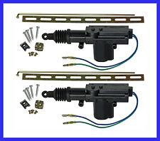 2 x CAR DOOR LOCK MOTOR CENTRAL LOCKING SYSTEM KIT ALARM 2 WIRE VB