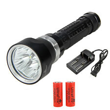 Waterproof 100M 6000lm Diving CREE XML2 LED Flashlight Torch Light 26650 Charger