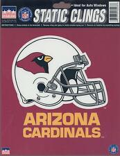 12 Arizona Cardinals 6 inch Static Cling Stickers