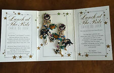"""Lunch At The Ritz Vintage """"Catfish"""" Clip Earrings On Original Card"""