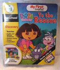 Leap Frog My First LeapPad DORA THE EXPLORER TOTHE RESCUE Book / Cartridge Set