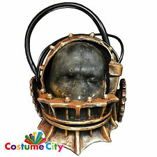 Adult Official SAW Jigsaw Reverse Bear Trap Mask Halloween Fancy Dress Accessory