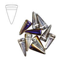 VETRO PRESSATO Ceca Spike Beads 17mm cristallo AZURO Confezione da 10 (m39/1)