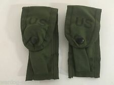 NEW Lot of 2 9MM Ammo Pouch U.S Military Army / USMC Alice Clip OD Mag Pistol