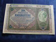20 Kronen 29. Klassenlotterie Achtellos 4. Klasse Donaustaat Österreich W/17/183