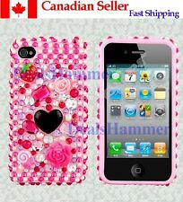 3D Bling Glitter Crystal Sparkle Case Cover Skin for iPhone 4 4G 4S - Canada
