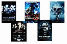 FINAL DESTINATION  FILMS - SET OF 5 - A4 FILM POSTER PRINTS # 1