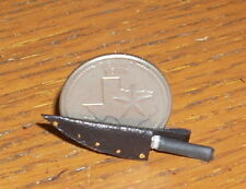 Black Bowie Knife 1:12 Left Point Alamo Dollhouse Miniature Western Cowboy