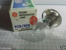 BGB BGK 4 Volt .75 amp Projector Bulb Lamp NEW FAST FOR sound reproducer EXCITER