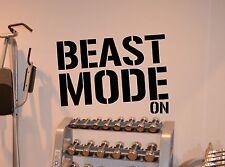 Beast Mode Gym Wall Decal Fitness Vinyl Sticker Motivation Poster Decor 57fit
