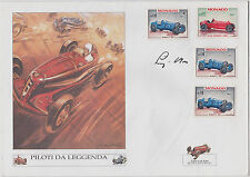 STIRLING MOSS, F1 RACING DRIVER **SIGNED MONACO GRAND PRIX COVER (1967)
