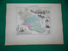 VAUCLUSE CARTE ATLAS MIGEON Edition 1885, Carte + fiche descriptive