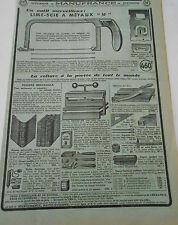 Pub Ancienne 1950 Articles Lime Scie à Métaux Relieuse reliure universelle