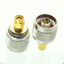 2pcs male Adapter N plug To male RP-SMA jack RF Coax Connector Adapter