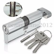 Aluminum Home Security Gate Door Lock Code Cylinder Hardware w/ 3 Keys +Screw