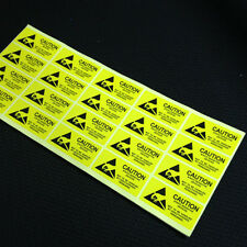 200x CAUTION Sticker Adhesive Label ESD Anti-Static Sensitive /55mm*25mm