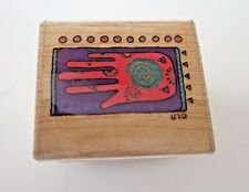 Laurel Burch Global Hand 962C rubber stamp
