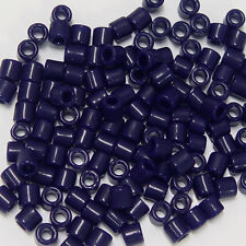 Navy Blue Tile Beads 250 Czech Glass native jewelry beading