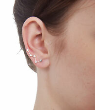 STERLING SILVER 925 CASSIOPEIA BIG DIPPER EAR CRAWLER CLIMBER EARRINGS  0085