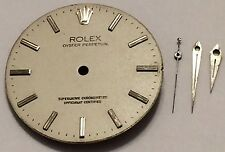 AUTHENTIC ROLEX OYSTER PERPETUAL DIAL & HANDS FOR 1560, 1520, ETC. USA SELLER!