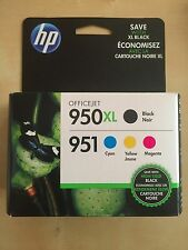 4-PACK HP GENUINE 950XL Black & 951 Color Ink NEW IN BOX OFFICEJET PRO 8600