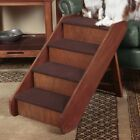 """Large Wood Pet Ladder Stairs Dog Ramp 20"""" Tall Bed Steps Step Folding Portable"""