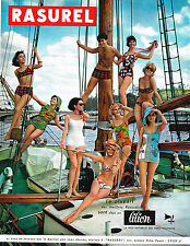 PUBLICITE ADVERTISING  1964   RASUREL   maillots de bain en LILION