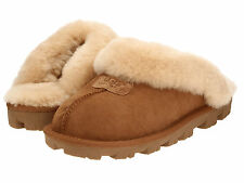 Women's SIZE 6 Shoes UGG Australia Coquette Sheepskin Slippers 5125 Chestnut New