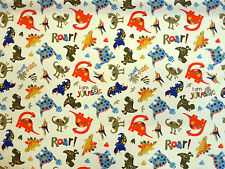 JURASSIC DINOSAURS CHILDRENS COTTON JERSEY STRETCH DRESS WIDE NURSERY FABRIC