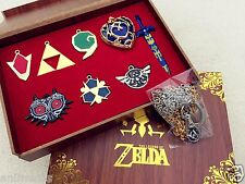 The Legend of Zelda Necklace keychain Pendant 9pcs Set Collection New in Box