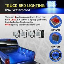 Truck Accessories 8pc Truck Bed LED Lighting Kit Pickup truck bed Accessory Blue