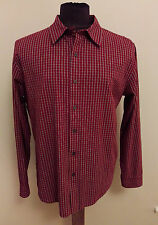 Men's CALVIN KLEIN Large L 100% Cotton Tartan Plaid Long Sleeve Dress Shirt CK1