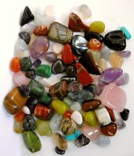 Tumble Stones x 500g per bag~random assorted sizes & mix~Semi Precious Gemstones