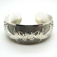 Hot New Tibetan Tibet Silver Chinese Phoenix Totem Bangle Cuff Bracelet HU