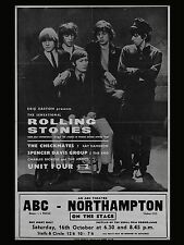 "Rolling Stones Northampton 16"" x 12"" Photo Repro Concert Poster"