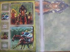 Die Cut Foiled Card Topper & Accent-Foiled A4 Card Blank Horse Race Hunkydory