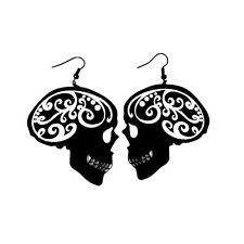 FILIGREE SKULL - Black Earrings, Fashion Jewellery