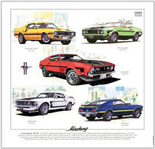 FORD MUSTANG 1969-73 - Fine Art Print - Shelby Boss 351 302 Convertible Mach 1