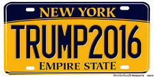 Donald Trump 2016 New York Novelty Aluminum License plate