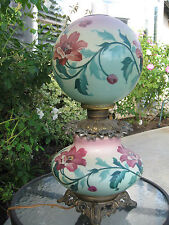 Antique Victorian Gone With The Wind Parlor Banquet Lamp
