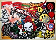WHOLESALE Lot 50 Punk Rock Biker Car Cartoon Skull Shirt Jacket Iron on patch #6