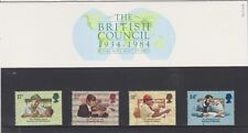 Gb 1984 British Council presentación Pack 156 Sg:1263 -1266