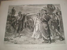 Elijah meeting Ahab and Jezebel Naboth's Vineyard Frank Dicksee 1876 print ref V