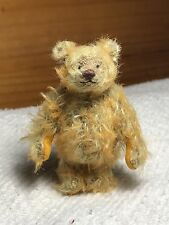 Miniature Hand Sewn 2-3/4in. GOLDEN ORANGE Mohair Teddy Bear by Lori Wright