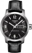 T0554301605700 Tissot Men's PRC 200 Automatic Watch Black Dial/Leather Strap NEW