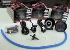 D1 Spec 60mm JDM Negro Cara 2Bar Turbo Boost Gauge