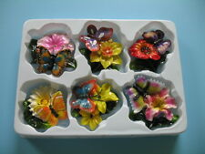 Magnet Butterfly flower six pcs refrigerator set new 3D .