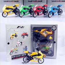 Alloy Windshield Motorcycle Pullback Model Car Kids DIY Motorbike Toy Gift 1:43