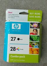 New Sealed Box Genuine OEM HP 27 & 28 Black & Tri-Color InkJet C9323FN MAY 2008